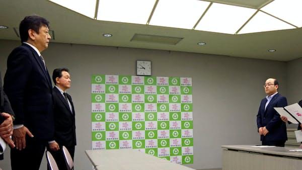 福島第2廃炉「理解得ながら」 東電社長、2町長に説明