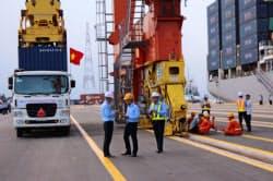 好調なサムスンに加え、大型国際港が竣工するなど建設部門も伸びた(北部ハイフォン)