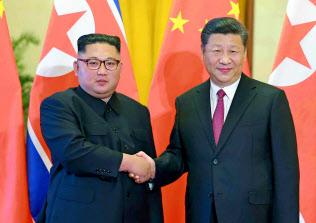 北朝鮮の金正恩委員長=コリアメディア提供・共同