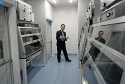 大鵬薬品工業はがん領域強化のための新設備を2日、竣工した(埼玉県神川町)