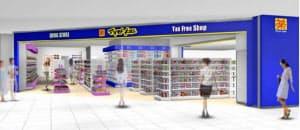 マツモトキヨシが31日に開店する「マツモトキヨシ成田国際空港第1ターミナル店」のイメージ