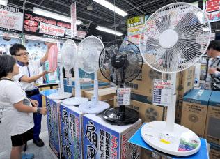 夏本番を迎え売り上げを伸ばすのが扇風機だが、存続を危ぶむ声が出ている