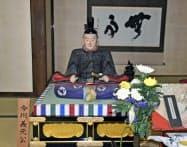 臨済寺所蔵の今川義元木像(静岡市)=共同