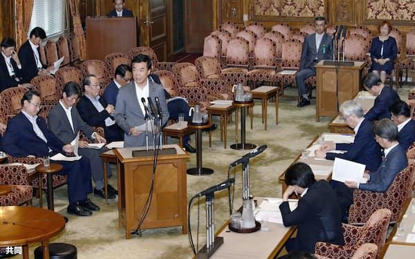 公選法改正案を審議する参院政治倫理・選挙制度特別委員会=9日午後