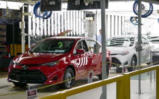 カローラを生産するトヨタのミシシッピ工場