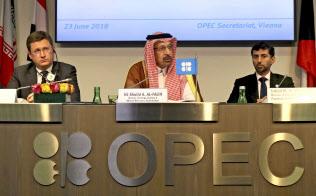 OPECと非OPECは減産の緩和で合意した=AP