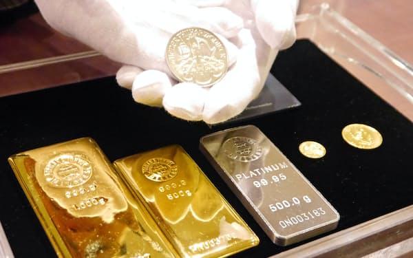 プラチナと金の価格差は今年一段と広がった
