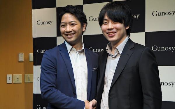 グノシーの福島良典CEO(右)と竹谷 祐哉COO(左)