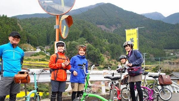 高級自転車レンタルに地域ガイド並走ツアー インバウンド需要狙う