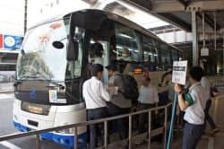 広島―呉間の臨時バス運行も始まった