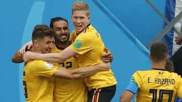 ベルギーは今大会で最も「サッカーをつくる」ことのできるチームだった=沢井慎也撮影