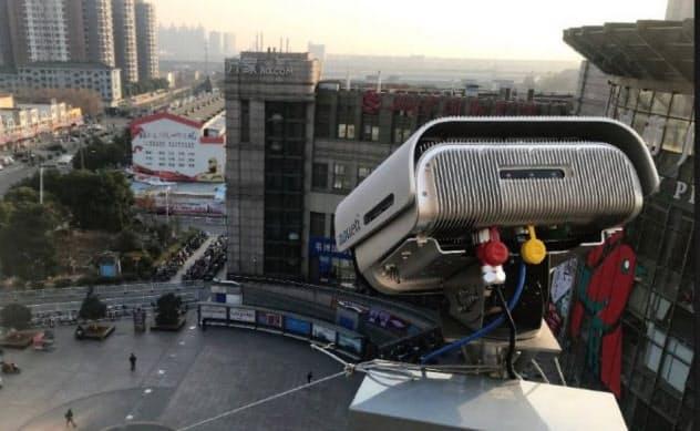 独自のデータ経済圏が広がる中国では、監視技術の向上も進む(中国・崑山市)=カメラ開発の安科迪提供