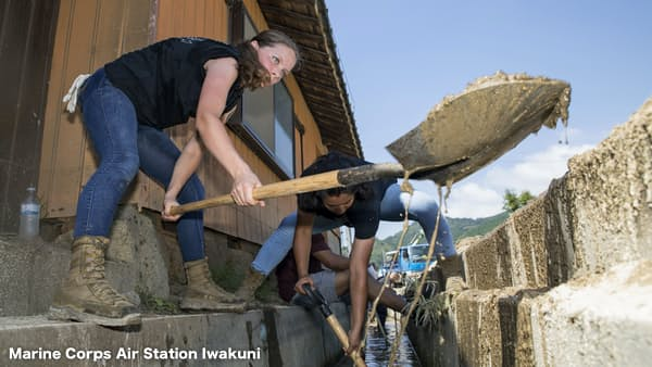 西日本豪雨への支援、米中台が存在感