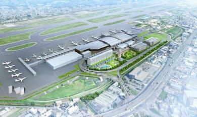 民営化後の福岡空港の開発イメージ(福岡エアポートホールディングス提供)