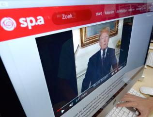 トランプ米大統領のニセ動画はパリ協定からの離脱を呼びかけた(ベルギーの社会主義政党のホームページ)