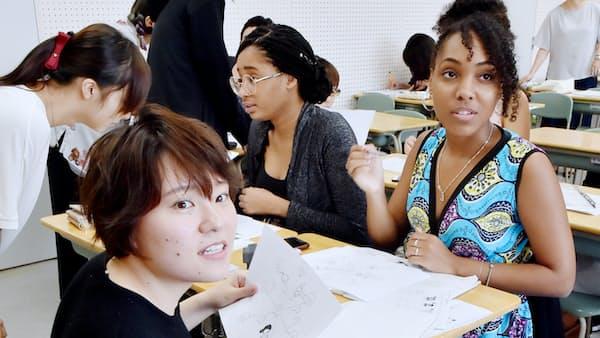教えて学ぶ日本語の深み、京都外国語大(キャンパス新景)