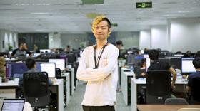 小林CEOは「日本よりベトナムにいた方が世界が広がる」とハノイ移住を決めた(ハノイ市のオフィス)