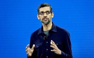 米グーグルが開催した「グーグルクラウドネクスト18」の基調講演に登壇したスンダー・ピチャイ最高経営責任者