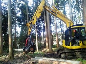 ICTで林業もスマート化する(コマツのICTハーベスタ)