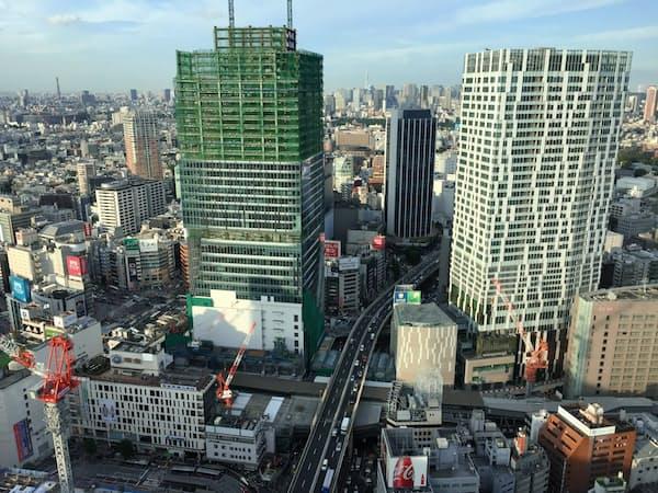 大規模な再開発が進む渋谷にはIT系企業が再び集まりつつある(東京・渋谷)