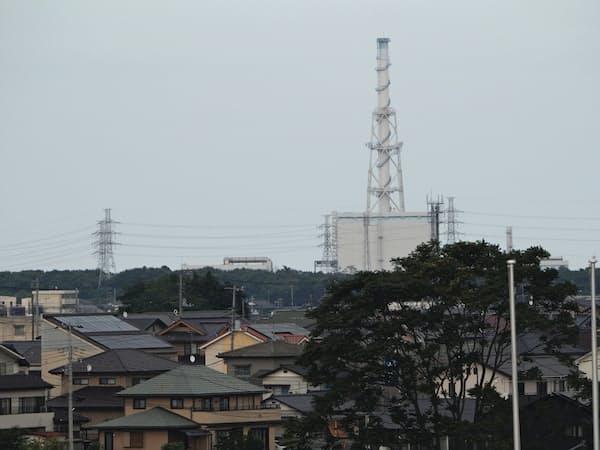 東海第2原発は住宅街からの距離が近い(茨城県東海村)
