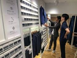 FABRIC TOKYOはオーダースーツの生地を並べ「売らない店」を展開(東京・港)
