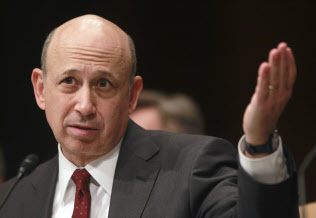 Goldman Sachs Chairman and CEO Lloyd Blankfein gestures during his testimony before the Senate Homeland Security and Governmental Affairs Investigations Subcommittee hearing on