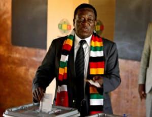 ジンバブエ大統領選で勝利したムナンガグワ氏=ロイター