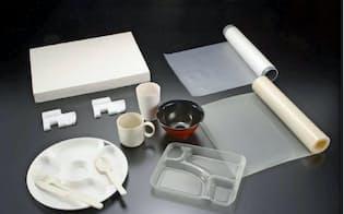 カネカの自然分解するプラスチック素材の使用例