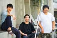 ペルソナイズの清水篤彦社長(中)、W TOKYOの村上範義社長(左)、アソビシステムの中川悠介社長
