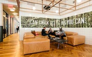 米ウィーワークはアジア地域で拡大を進める(ニューヨーク市内のオフィス)