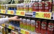 第三のビールが好調だったキリンが販売を伸ばした(東京都千代田区のライフ神田和泉町店)