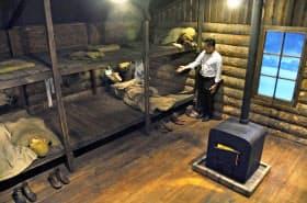 舞鶴引揚記念館に新設された「抑留生活体験室」(京都府舞鶴市)=共同