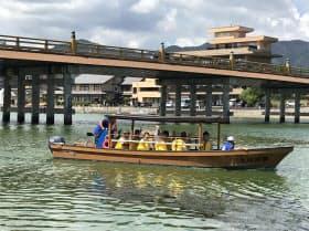 11年ぶりに運航が再開された瀬田川の屋形船