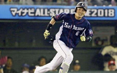 西武・源田は昨季、走塁による得点への貢献度でトップタイだった=共同