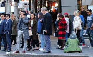 豪州には移民してきた多様な人々が暮らす(シドニー中心部)