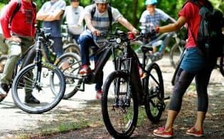 パナソニックは6月、兵庫県の丹波篠山で電動マウンテンバイクのツアーを主催した