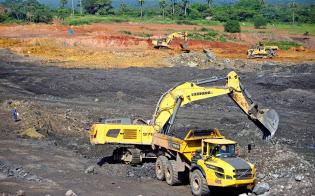 キューバの鉛・亜鉛鉱山(2017年)=ロイター