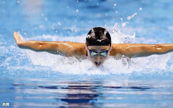 5個目の金メダルを獲得した池江=共同