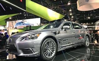 トヨタの自動運転の実験車(1月、米ラスベガス)