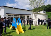 白河オリンパスの工場で働く従業員向けの託児所(27日、福島県西郷村)