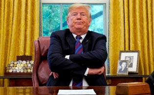 米国・メキシコ間でのNAFTAの見直し案に合意したことを表明するトランプ米大統領(ロイター)