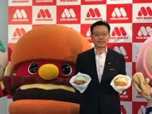 モスフードサービスの中村栄輔社長は「地域密着と特徴づくりを1番大切にしている」と話す(28日、都内で)