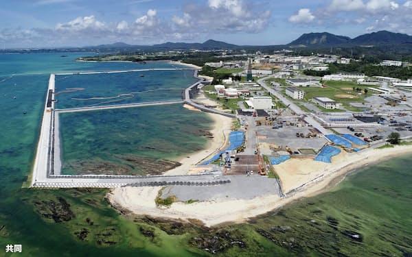 米軍普天間基地が移設される予定の沖縄県名護市辺野古の沿岸部=共同