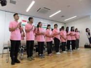 小諸市役所を表敬訪問したインドネシア人介護技能実習生