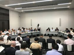 福島第1原発の汚染処理水をめぐる公聴会が都内で開かれた(8月31日、東京・千代田)