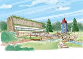 ムーミンバレーパークには展示施設のほか、ムーミン屋敷も整備する