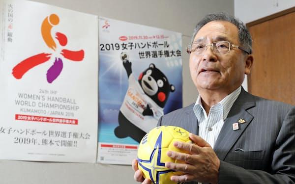 熊本県ハンドボール協会の島田俊郎会長