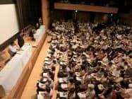 被害者弁護団が初めて説明会を開いた(2日、東京都千代田区)