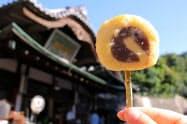 和菓子と揚げ物をコラボさせた「一六タルトの天ぷら」